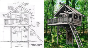 Use your creativity when building a tree house for Free treehouse plans and designs