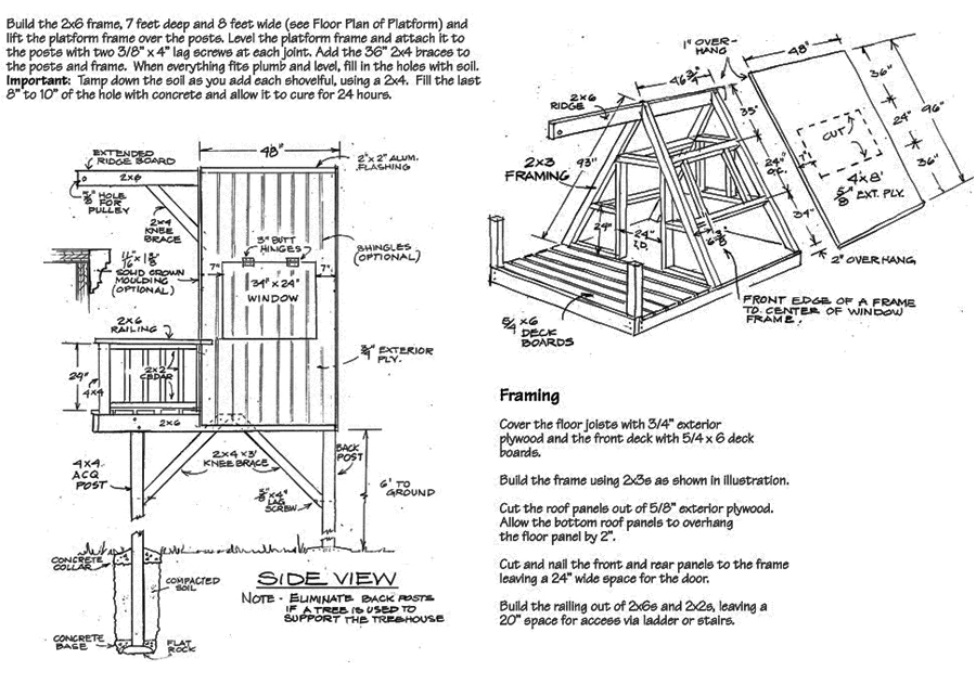 Free tree house floor plans for Free treehouse plans and designs